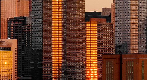 NYC - Sun Reflection at Sunset