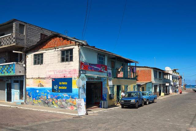 Centro de buceo LOS MANTAS, en San Cristobal.