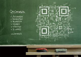 "QR code design ""Everyting = math"""