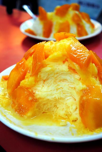 Mango Snow innards
