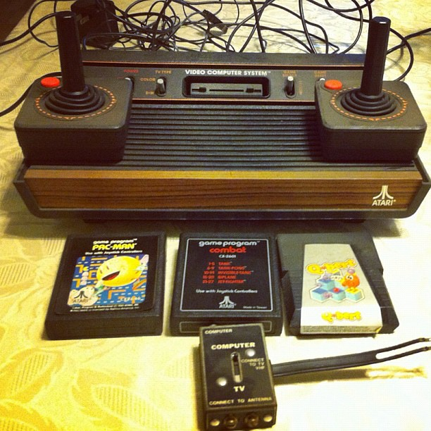 Visited my mom today picked up my original atari 2600 game console with the only games i ever - Original atari game console ...