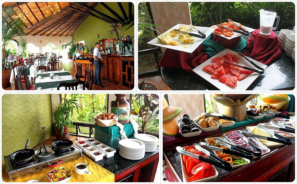 Mountain Paradise Hotel Arenal Costa Rica Breakfast Buffet