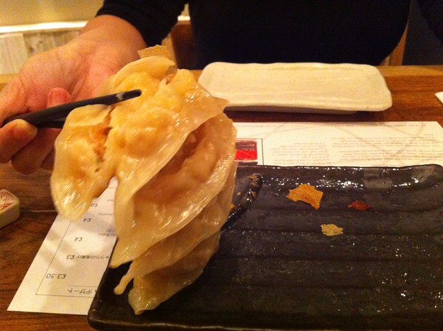 Tonkotsu Ramen London Soho gyozas stuck together