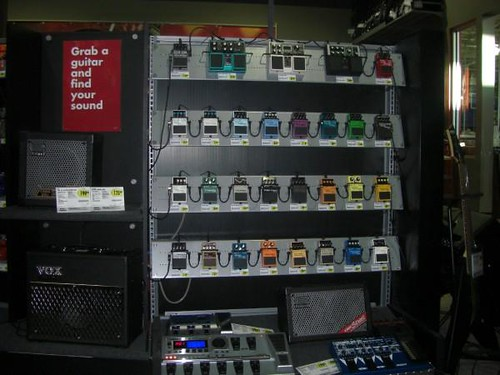 guitar store display for necks and other options the gear page