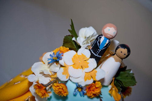 Hand-painted cake toppers