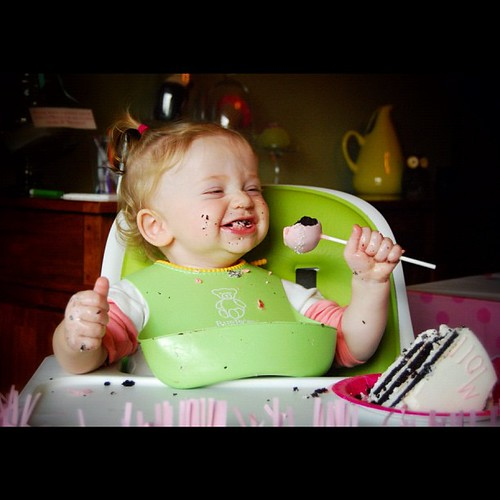 A sound you heard - the sound of a one year old eating cake is a delight! #fmsphotoaday