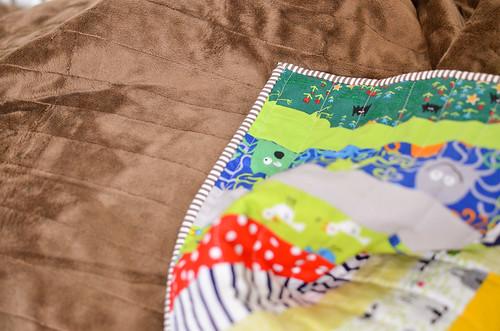 moda snuggles quilt back