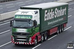 Volvo FH 6x2 Tractor - PX11 BZA - Rosie Louise - Green & Red - 2011 - Eddie Stobart - M1 J10 Luton - Steven Gray - IMG_0288
