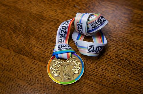 2012大阪マラソン フィニッシャーメダル