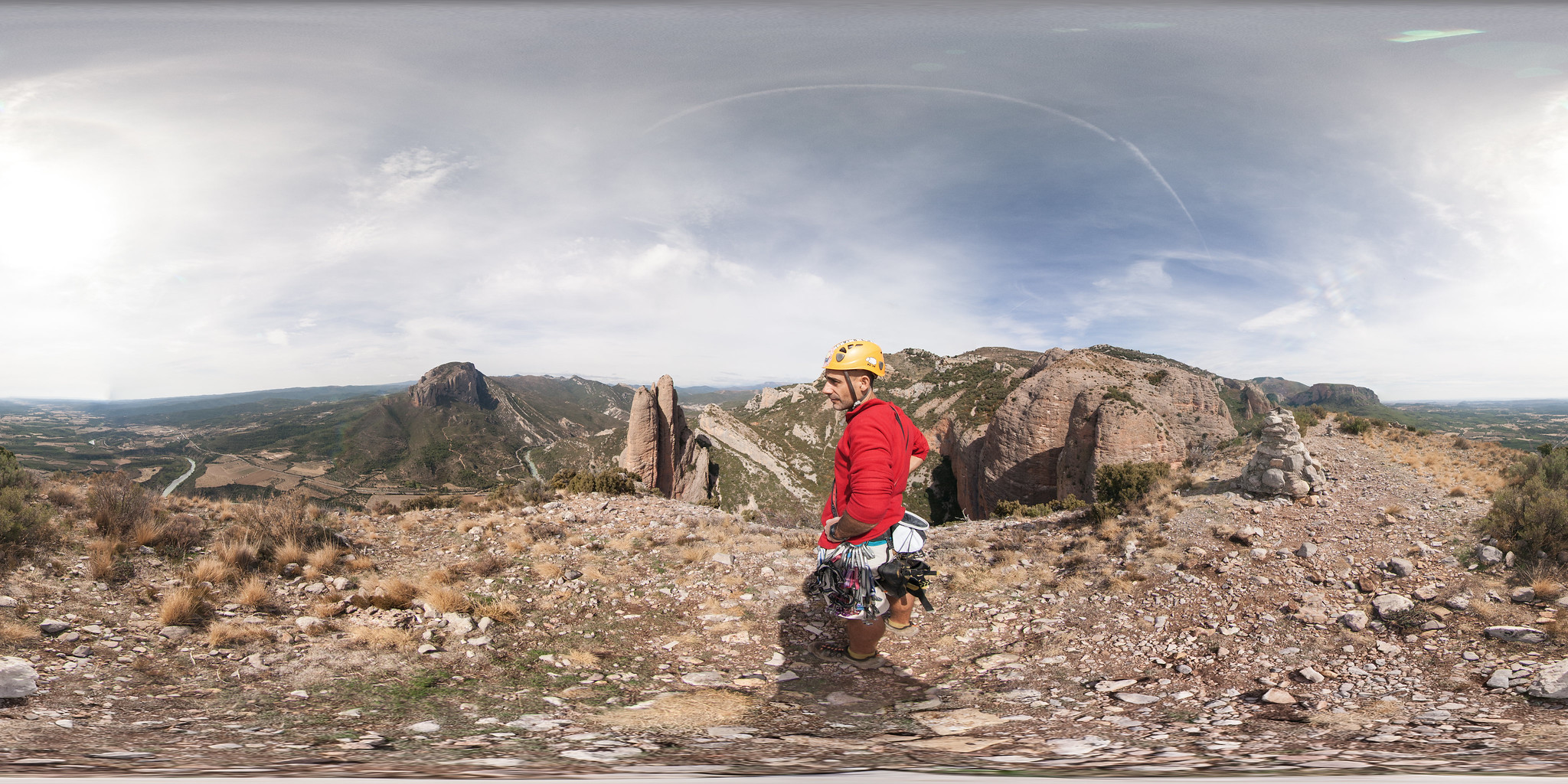 from the top of the rammer (360x180º)