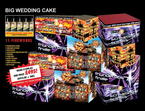 Big Wedding Cake Fireworks Package