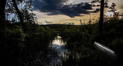 sunset lake ma pond pretty massachusetts royalston