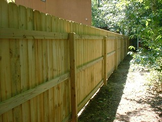 Dog Ear Pressure Treated Fence