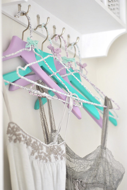 Pretty guest room hangers