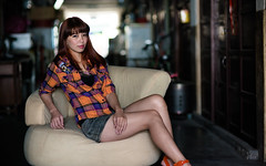 [Free Images] People, Women - Asian, Taiwanese People, Women - Sit ID:201303041800