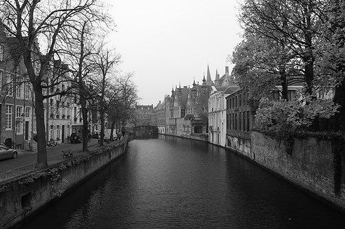 canal in black & white