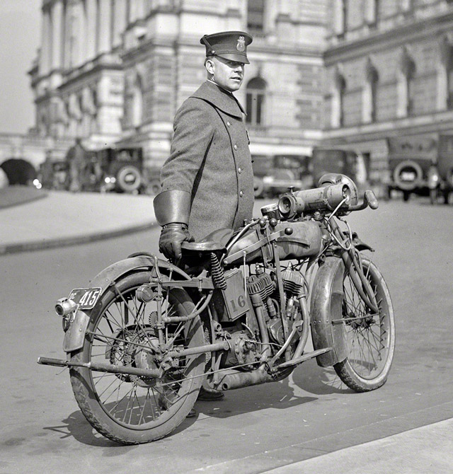 1924 washington motorcycle cop