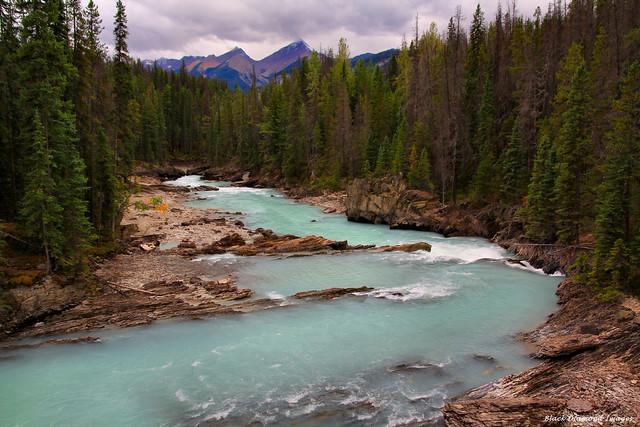 Kicking Horse River at Natural Bridge, Yoho National Park, British Columbia