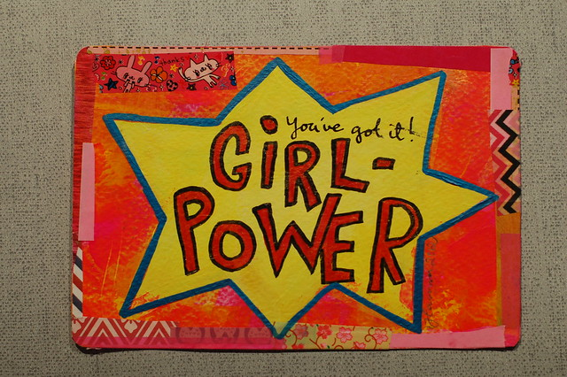 Postcard: Girl power by @iHanna .- made for the #Diypostcardswap