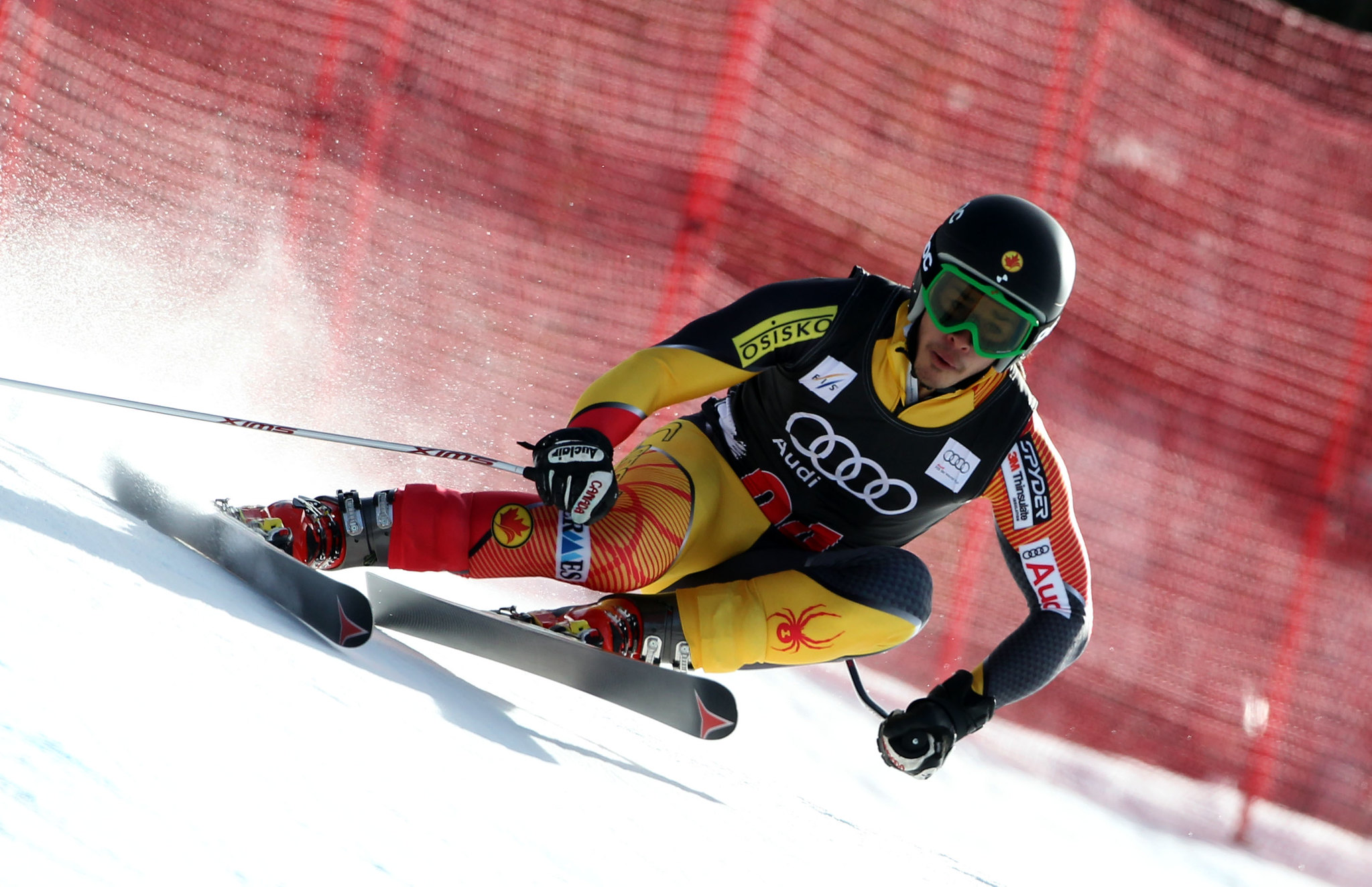 Morgan Pridy during men's downhill training in Beaver Creek.