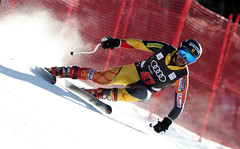 Conrad Pridy during men's downhill training in Beaver Creek.