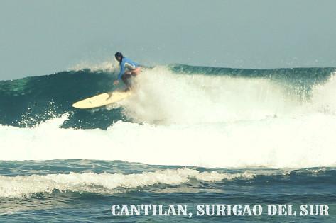 Surfing Cantilan, Surigao del Sur