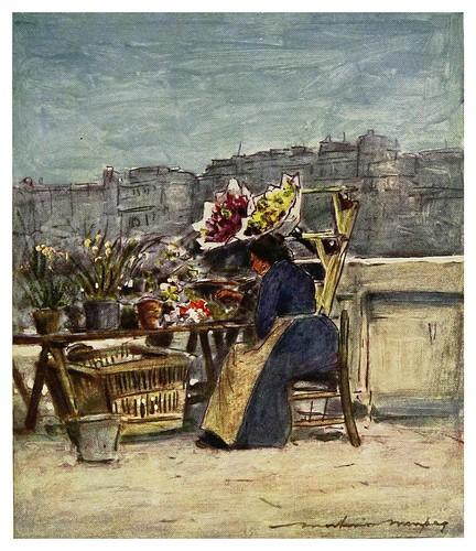 021- Un puesto de flores-Paris (1909)-Mortimer Menpes