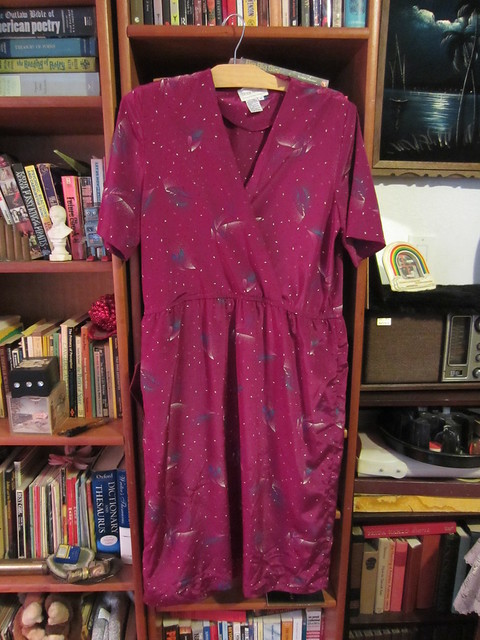 XL/1X Plum Surplice Dress $25 (#12)