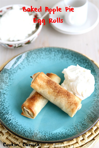 Baked Apple Pie Egg Rolls Recipe