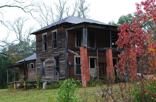 autumn trees two house fall abandoned leaves texas decay moscow foliage story