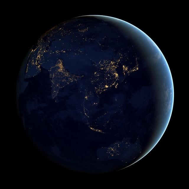 Black Marble - Asia and Australia