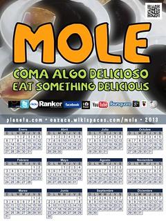 Coma algo delicioso: 2013 Mole Calendar (español)