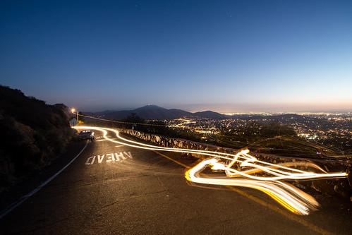 california ca mountains night canon landscape outside lights evening sandiego trails sunsets headlights hills lamesa 5d tijuana mthelix stopahead 5dmkiii