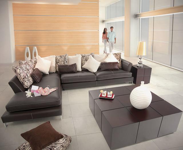 Sala boal vesubio piel placencia muebles flickr photo for Comedores de piel