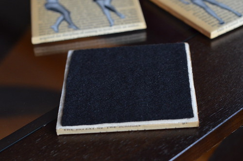 Tile coasters - felt back
