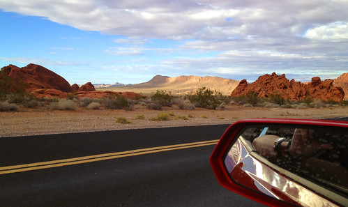 Valley of Fire. And a Camaro Mirror