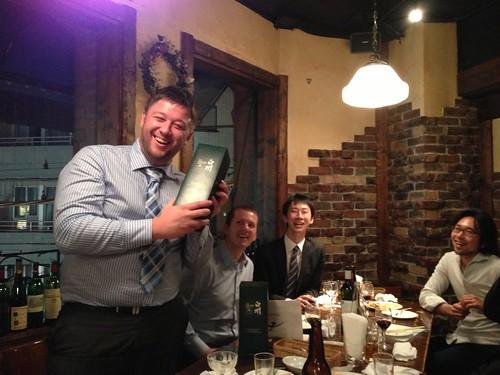 恵比寿 葡萄酒房 alleeにてXLABのメンバーと