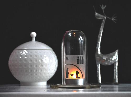 flaska mécses / candle holder