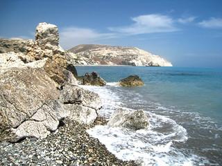 Beach near Aphrodite's rock