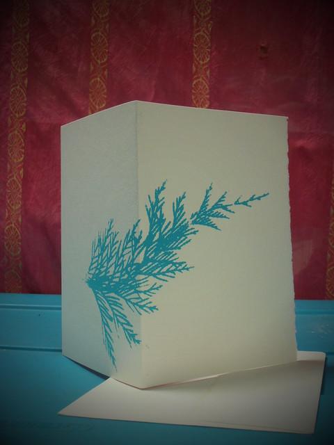 Cedar- Hand Printed Card $3 sliding scale