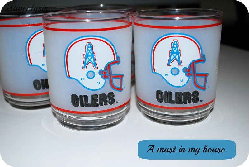 Houston Oilers Glasses