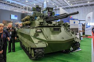 "Combat multifunctional robotic system ""Uran-9"""