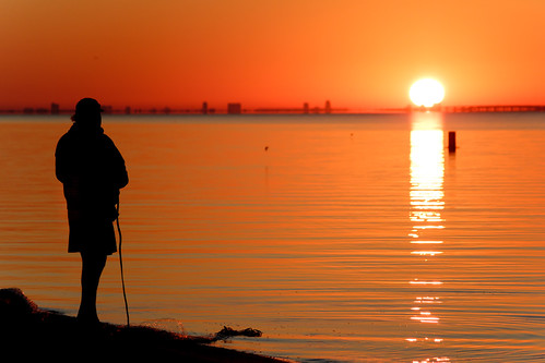 light sky net sunrise canon hit fishing tampabay silouette list luminosity