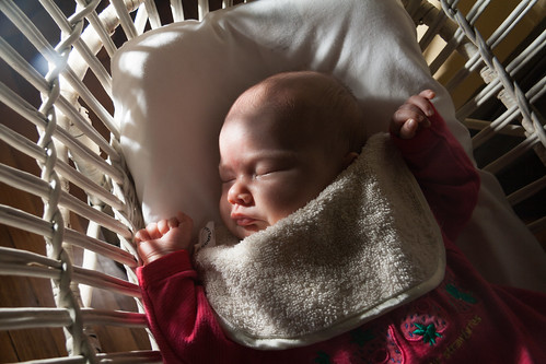 Sleeping in the Bassinet