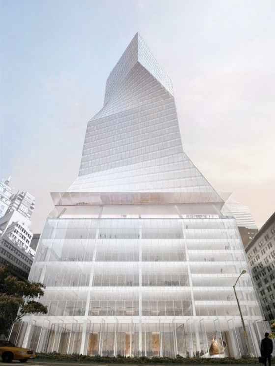 Finalist Design for 425 Park Avenue. Image © OMA