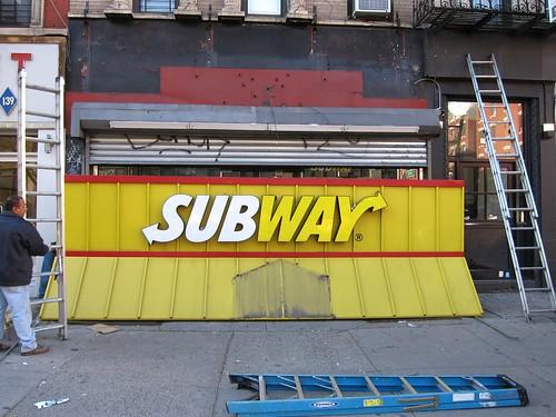 Subway snow plow