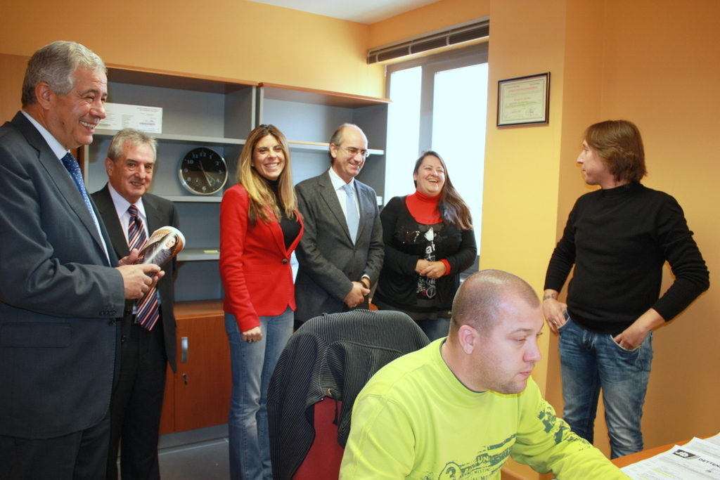 Visita al despacho de hegelmann en el vivero de empresas for Viveros salamanca