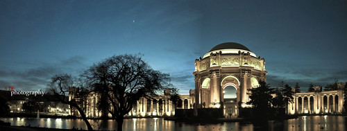 sanfrancisco panorama bluehour palaceoffinearts marinadistrict presidio canon500d canont1i