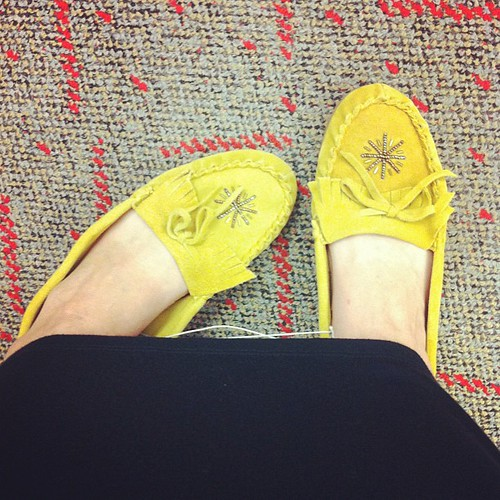 Shut.The.Front.Door! Leather Mocs at Target for $6.00! In my size!