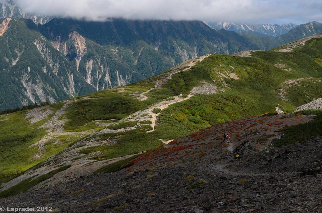 20120915 蝶ヶ岳の稜線